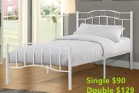 Brand new white metal bed frame on sale 548 km