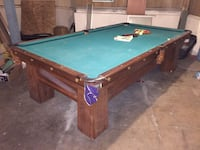 Pool table with all the accessories