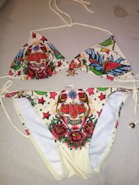 white, red, and green floral bikini East Bank, 25067