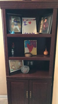 brown wooden framed glass display cabinet Escondido, 92027