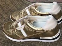 Pair of gold-and-white sneakers, original Dolce & Gabbana