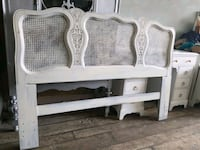 white wooden bed headboard and footboard Mississauga, L5G 3N8
