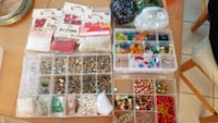 Craft beads, includes containers Brampton, L6P 1W1