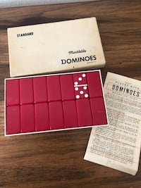 (IRVING, TX) Vintage Standard Marblelike Dominoes Puremco Manufacturing Co. Waco TX Irving, 75063