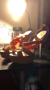Just fabulous black tan and red high heels Modesto, 95355