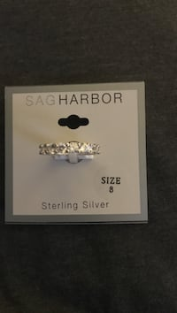 Brand new sterling silver ring with cz all around  San Diego, 92173