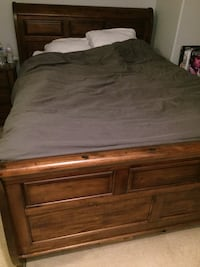 Beautiful cherry wood queen size bed