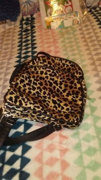 Leopard print small backpack  Clifton, 81520