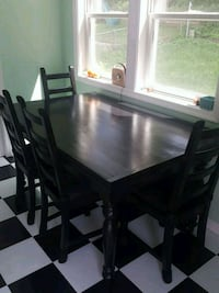 Black Table and 8 Chairs Set Great British Pine Mi Kensington, 20895