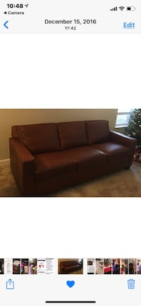West Elm Henry Leather Sofa Silver Spring, 20910