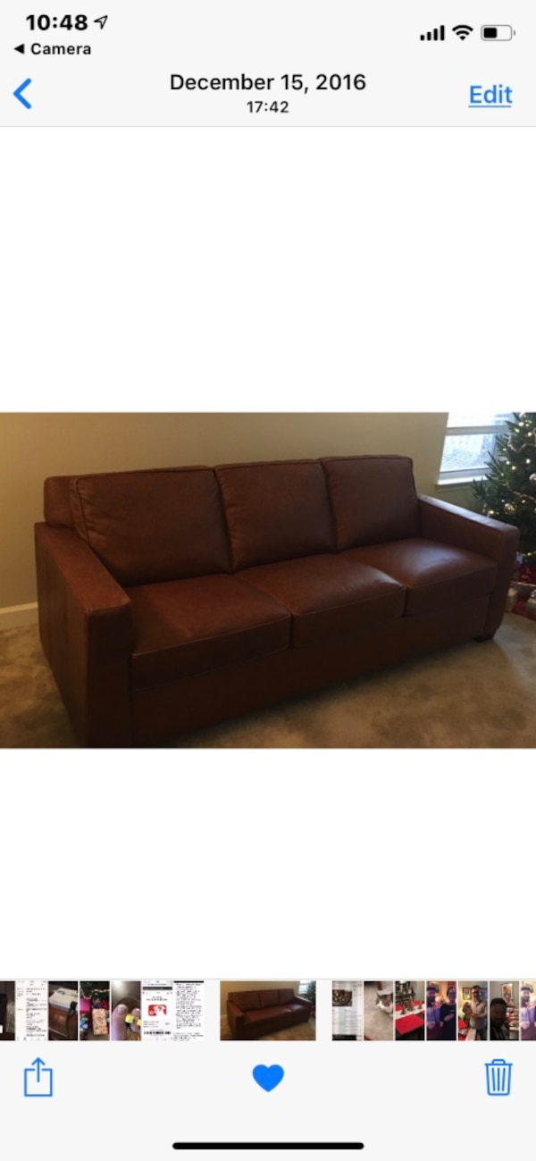 Used West Elm Henry Leather Sofa For