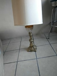 brown and white table lamp Florence, 35630