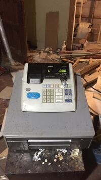 White and black cash register casio Toronto