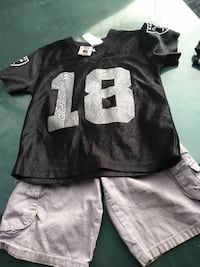 black and white Raiders jersey