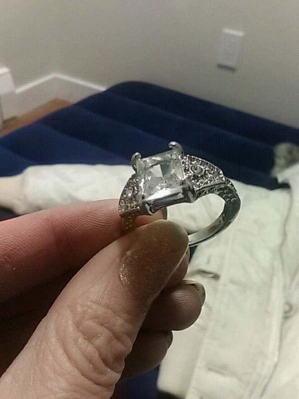 Platinum Filled & Plated S925 White Sapphire size9