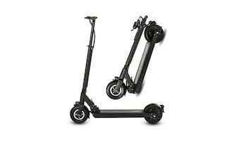 Black and gray kick scooter