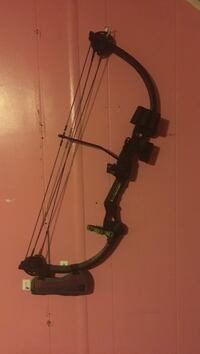black and green composite bow