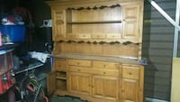 Rock Solid Maple  wooden cabinet with hutch Los Angeles, 90032