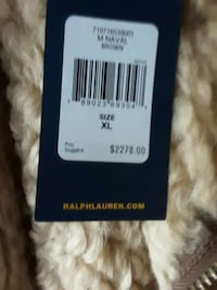Polo ralph lauren mens naval brown jacket size xl Vancouver, V6H