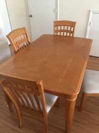 rectangular brown wooden table with six chairs dining set Plantation, 33322
