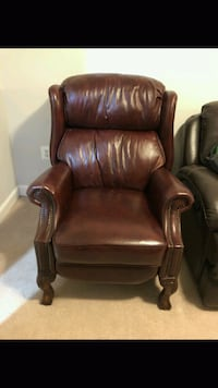 brown leather padded sofa chair Herndon, 20171