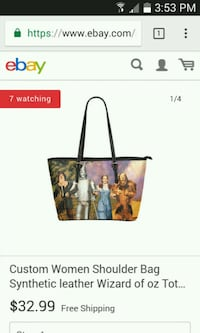 The Wizard of Oz tote bag screenshot