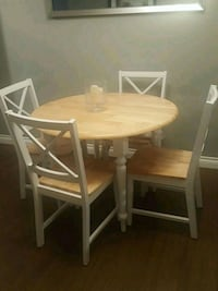 Solid wood dining table with 4 chairs  Port Moody, V3H 5K4