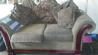 gray cushioned 2-seat couch with pillows Stockton, 95205