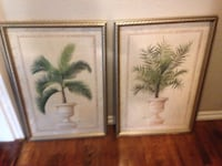 two brown wooden framed painting of palm trees Catoosa, 74116