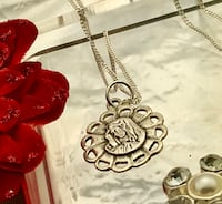 New! Sterling silver Mary necklace pendant charm