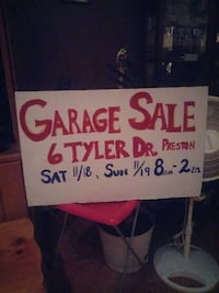 Garage Sale 6 tyler Dr. preston poster Norwich, 06360