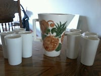 Ceramic pitcher with 8 ceramic glasses . Bakersfield, 93306