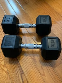 Barbell Coated Hex Dumbbells, Set of 2 30lbs New York, 11214