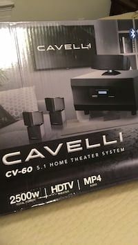 black and gray Sony home theater system box 35 km