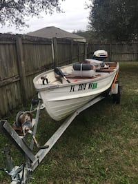 Used white and green motor boat in apopka for Green boat and motor