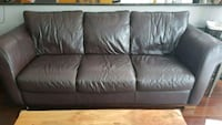 Brown Leather Sofa  Ottawa, K2S 1S6