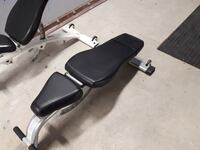 Adjustable free weight bench (only white left)