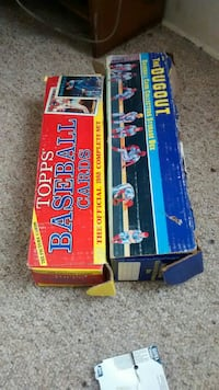 topps baseball trading card box