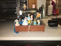 black and brown treadle sewing machine