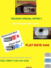 DRYER VENT CLEANING!!!!!! Holiday special!!!!!!! $100 23 km
