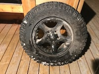 """17"""" Dodge rims and tires (Studded)"""