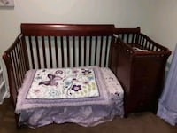 4 in 1 Crib, like new mattress, and bedding Montclair, 22025