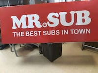 Huge Mr.SUB sign.  Toronto, M1B 5S3