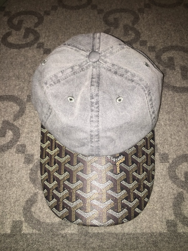 077b4a97e0b Used Goyard Custom made Dad Hat Rare Gray demin with black goyard brim for  sale in New York - letgo