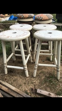 For white wooden bar stools and two brown  Dumfries, 22026