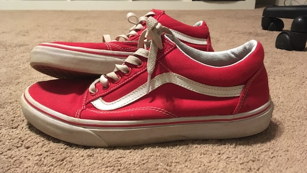 5e1deb8ee9 Used Red-and-white Vans sk8-hi low-top shoes for sale in Newnan - letgo