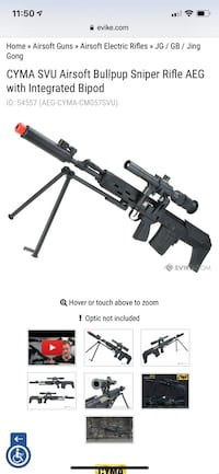 AIRSOFT SVU With attachments PRICE NEGOTIABLE (Out of stock on Evike) Mount Airy, 21771