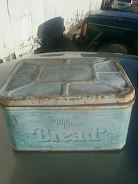 Wheat heart brand metal bread box