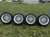 BMW Aluminum Rims with Continental 225/45R17 All Season Tires Toronto, M4A 2S3