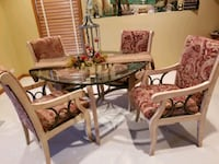 Glass top dining table set 611 mi